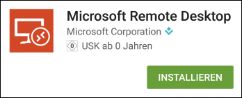 App Microsoft Remote Desktop im Play Store